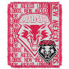 NCAA New Mexico Lobos FOCUS 48x60 Triple Woven Jacquard Throw