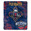 NBA New Orleans Pelicans REFLECT 50x60 Raschel Throw