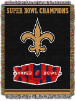 NFL New Orleans Saints Commemorative 48x60 Tapestry Throw