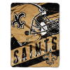 NFL New Orleans Saints 50x60 Micro Raschel Throw Blanket