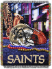 NFL New Orleans Saints Home Field Advantage 48x60 Tapestry Throw