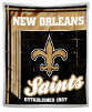 NFL New Orleans Saints Sherpa MINK 50x60 Throw Blanket