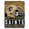 NFL New Orleans Saints 60x80 Silk Touch Raschel Throw Blanket