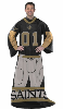NFL New Orleans Saints Uniform Huddler Blanket With Sleeves