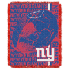 NFL New York Giants SPIRAL 48x60 Triple Woven Jacquard Throw