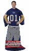 NFL New York Giants Uniform Huddler Blanket With Sleeves