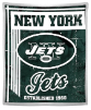 NFL New York Jets Sherpa MINK 50x60 Throw Blanket