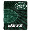 NFL New York Jets Sherpa STROBE 50x60 Throw Blanket