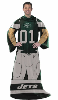 NFL New York Jets Uniform Huddler Blanket With Sleeves