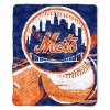 MLB New York Mets SHERPA 50x60 Throw Blanket