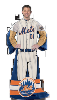 MLB New York Mets Uniform Huddler Blanket With Sleeves