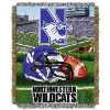 NCAA Northwestern Wildcats Home Field Advantage 48x60 Tapestry Throw