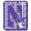 NCAA Northwestern Wildcats FOCUS 48x60 Triple Woven Jacquard Throw