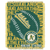MLB Oakland A's 48x60 Triple Woven Jacquard Throw
