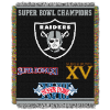 NFL Oakland Raiders Commemorative 48x60 Tapestry Throw