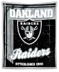 NFL Oakland Raiders Sherpa MINK 50x60 Throw Blanket