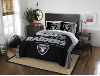 NFL Oakland Raiders QUEEN Comforter and 2 Shams