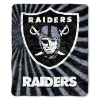 NFL Oakland Raiders Sherpa STROBE 50x60 Throw Blanket
