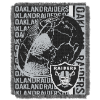 NFL Oakland Raiders SPIRAL 48x60 Triple Woven Jacquard Throw
