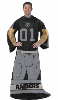 NFL Oakland Raiders Uniform Huddler Blanket With Sleeves