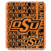 NCAA Oklahoma State Cowboys FOCUS 48x60 Triple Woven Jacquard Throw