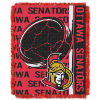 NHL Ottawa Senators 48x60 Triple Woven Jacquard Throw