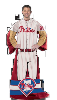 MLB Philadelphia Phillies Uniform Huddler Blanket With Sleeves