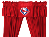 MLB Philadelphia Phillies Valance - Locker Room Series