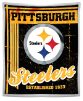 NFL Pittsburgh Steelers Sherpa MINK 50x60 Throw Blanket