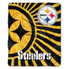 NFL Pittsburgh Steelers Sherpa STROBE 50x60 Throw Blanket