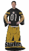 NFL Pittsburgh Steelers Uniform Huddler Blanket With Sleeves