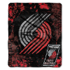 NBA Portland Trail Blazers REFLECT 50x60 Raschel Throw