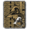 NCAA Purdue Boilermakers FOCUS 48x60 Triple Woven Jacquard Throw