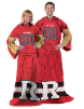 NCAA Rutgers Scarlet Knights Uniform Huddler Blanket With Sleeves