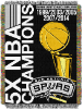 NBA San Antonio Spurs Commemorative 48x60 Tapestry Throw