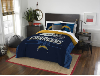 NFL San Diego Chargers QUEEN Comforter and 2 Shams