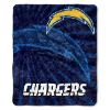 NFL Los Angeles Chargers Sherpa STROBE 50x60 Throw Blanket