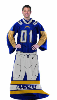NFL Los Angeles Chargerss Uniform Huddler Blanket With Sleeves