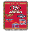 NFL San Francisco 49ers Commemorative 48x60 Tapestry Throw