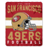NFL San Francisco 49ers 50x60 Fleece Throw Blanket
