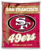 NFL San Francisco 49ers Sherpa MINK 50x60 Throw Blanket