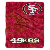 NFL San Francisco 49ers Sherpa STROBE 50x60 Throw Blanket