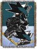 NHL San Jose Sharks Home Ice Advantage 48x60 Tapestry Throw
