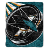 NHL San Jose Sharks SHERPA 50x60 Throw Blanket