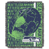 NFL Seattle Seahawks SPIRAL 48x60 Triple Woven Jacquard Throw