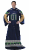 NFL Seattle Seahawks Uniform Huddler Blanket With Sleeves
