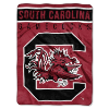 NCAA South Carolina Gamecocks OVERTIME 60x80 Super Plush Throw