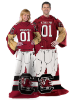 NCAA South Carolina Gamecocks Uniform Huddler Blanket With Sleeves