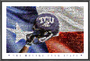 NCAA TCU Horned Frogs Texas Flag Mosaic