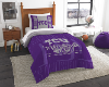 NCAA TCU Horned Frogs Twin Comforter Set